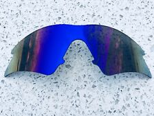 NEW ICE BLUE MIRROR REPLACEMENT OAKLEY M FRAME SWEEP LENS & CARRY POUCH