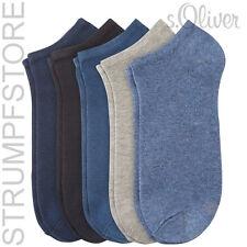 5 Paar s.Oliver Sneaker Socken UNISEX blau grau jeans stone76 Art. 24118 / 35-46