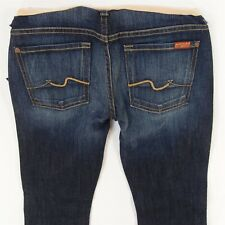 NEW Ladies 7 for All Mankind MATERNITY OVER BUMP BOOTCUT Jeans W27 L32 BNWT