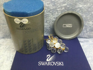 Swarovski Small Grapes (Gold Leaves & Stem) 7550020015 166157. Retired '95. MIB