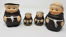 Vintage Goebel Friars Set - Sugar, Creamer, Salt & Pepper/Full Bee Germany