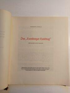 Der Leonberger Landtag Ursachen und Folgen v. August Lämmle 1957