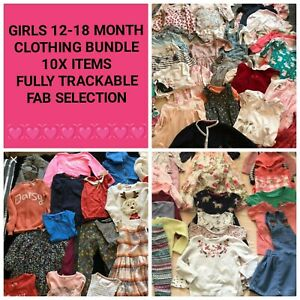 Baby Girl Clothing 12-18 Months Bundle Job Lot - 10 Items Sent To You 12 to 18