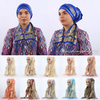 New Women Ramadan Scarf Islamic Muslim Tassels Hijab Shawls Long Headwrap Turban