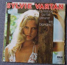 Sylvie Vartan, qu'est-ce qui fait pleurer les blondes / la lettre, SP - 45 tours