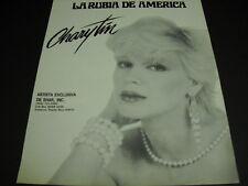CHARYTIN La Rubia De America original Vintage PROMO DISPLAY AD mint condition