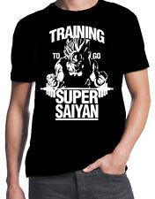 Training To Go Super Saiyan Dragonball Z Gym Workout New Mens Stencil T-Shirt