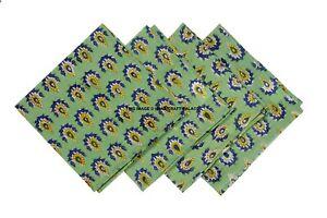 Hand Print Napkins Table Linen Dinner Cloth Cotton Hotel Wedding 4 Pack 38x38cm