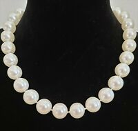 Vintage Faux Large 13mm Pearl Choker/Necklace/Bridal/Wedding/Prom