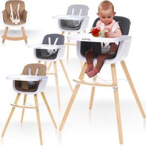 PREMIUM 2IN1 Kinderhochstuhl Hochstuhl Holz Baby Hoch Stuhl Treppen Sitz Kind