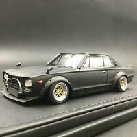Ignition Model IG0716 1/43 LB-WORKS Hakosuka 2Door Matte Black from Japan New