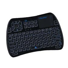 Mini Wireless Keyboard with Touchpad Mouse LED Backlit Rechargable German