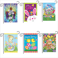 Morigins Happy Easter Bunny Double-Sided Flag Outdoor Garden Flags  Many Model
