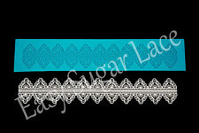 Silicone MARQUISE CAKE LACE Mat / Mold Edible Sugar Lace (1 Row) FREE Shipping