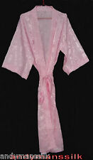 Thai Silk Kimono / Robe / Dressing Gown / Light Pink  / Night Dress
