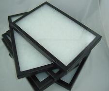 five jewelry display case Riker Mount display box collectors frame polyfoam 8X12