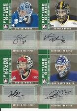 2008-09 IN THE GAME  BETWEEN THE PIPES JUSTIN POGGE AUTOGRAPH