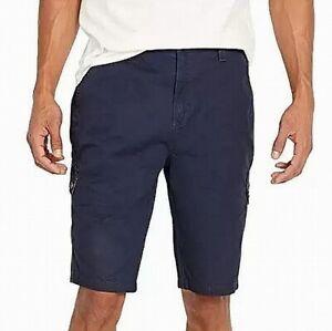 Buffalo David Bitton Mens Shorts Deep Blue Size 38 Mid-Rise Cargo $59 #117