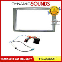 Car Stereo Double Din Replacement Fitting Kit Fascia, Wiring ISO For Peugeot 308