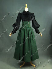 Victorian 2Pc Fairytale Blouse Skirt Dress Set Witch Halloween Costume D187