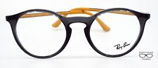 Ray Ban RB 7132 5722 Transparent Gray/Yellow Eyeglasses New Authentic 48