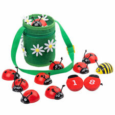 Montessori Counting Beetle Wooden Educational Toys 0-10 Numbers Learning Toy