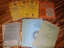 Lot of  Assorted Astrologer's Almanac Raphael's  Ephemeris Solunar