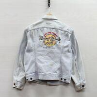 Vintage Hard Rock Cafe Las Vegas Lee Denim Jean Jacket Size Small Light Wash 90s