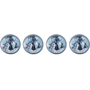 "5-3/4"" Halogen Crystal Clear Sealed Beam Glass Headlight Headlamp Bulbs Set Of 4"