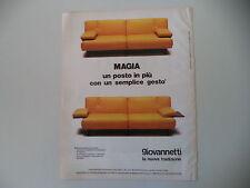 advertising Pubblicità 1982 GIOVANNETTI - BOTTEGONE (PISTOIA)