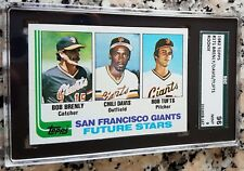 BOB BRENLY CHILI DAVIS BOB TUFTS 1982 Topps Rookie RC S.F. Giants SGC 96 PSA 9