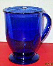 Anchor Hocking 16 Oz. Cobalt Blue Glass Pedestal Mug