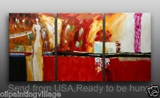 Figures oil painting original Handmade Canvas Framed Ready To Be Hung - last 1
