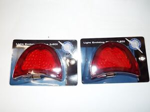 57 1957 Chevy Bel Air 210 Nomad Rear Pair Red 51 LED Tail Brake Light Lamp Lens