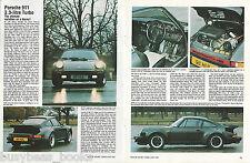 1982 PORSCHE 911 road test, British magazine article, 911 3.3l turbo 8 photos