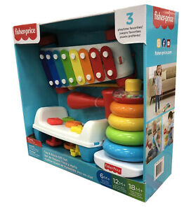 🔥 Fisher-Price Tap and Stack Develops Problem Solving Colorful Basics Bundle 🔥