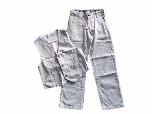 NWT Boy's Gymboree Egg Hunt blue white striped vest & adjustable pants ~ 10