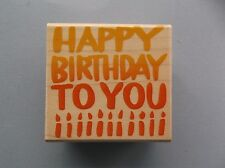 HERO ARTS RUBBER STAMPS BIG BOLD BIRTHDAY NEW wood STAMP