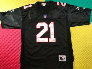 Deion Sanders Atlanta Falcons Mitchell Ness Sewn Black Jersey Men's Size 48 Nice
