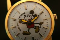 Rare vintage 1970's serviced HMT blue dial Mickey Mouse 17 jewel wristwatch
