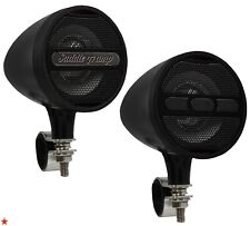 FOR HARLEY / UNIVERSAL MOTORCYCLE ROUND HANDLEBAR BLUETOOTH MP3 USB SPEAKERS NEW
