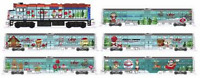 KATO 1062017 N Operation North Pole F40PH & 5 Commuter Cars w Bookcase 106-2017