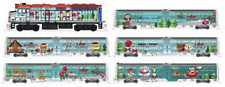 KATO 1062017 N Operation North Pole F40PH & 5 Commuter Cars w Bookcase 106-2017