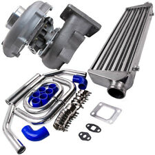 T04E T3/T4 Turbo/TURBOCHARGER .63 A/R 57 W/Intercooler &Piping Pipe Kits
