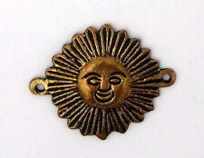 Pendentif soleil Inca aztèque Précolombien en bronze artisanat Pérou