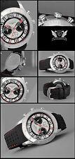 LUSSO Cronografo -cavadini Orologio sport modello con selikon CINTURINO NUOVO
