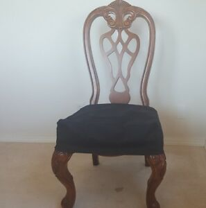 O'fit Set of Two Classic Micro Suede Dining Chair Covers Chair Seat Covers