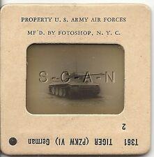 WWII US 35mm Recognition Slide Negative- Panzer- German Tank- Tiger I- 88mm- #2