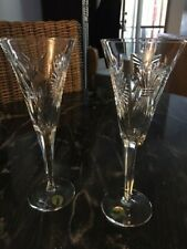 Waterford Crystal Pair of Universal Five Toasts Champagne Flutes
