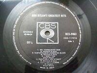 BOB DYLAN GREATEST HITS dum dum CBS LP RECORD INDIA INDIAN VERY RARE